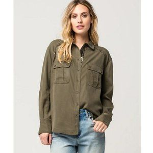 Free People Off Campus Utility Shirt S